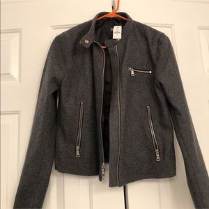 NWOT Gap Wool Blend Gray Bomber Jacket